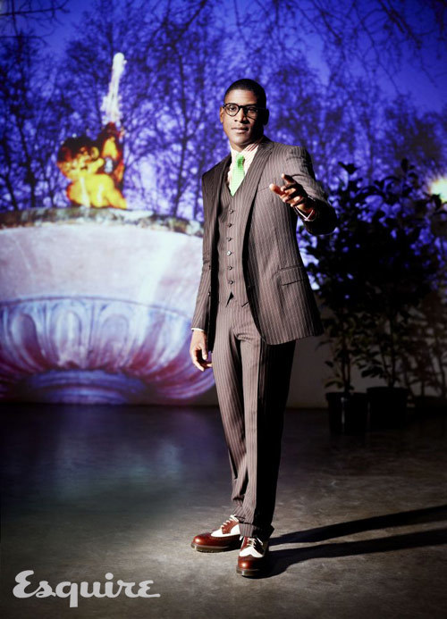Musician Labrinth is wearing piece suit