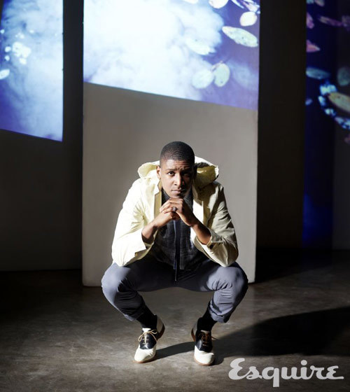Musician Labrinth is wearing hoods