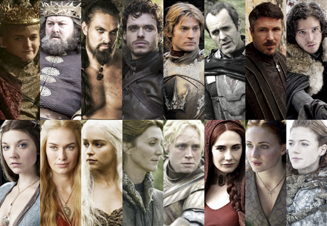 game of thrones wikipedia list of game of thrones